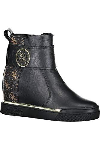 GUESS Falon Botines/Low Boots Mujeres Negro/Marrón Botas de caña Baja