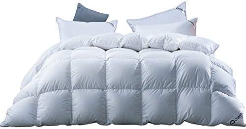 NOBAND Literie Couette en Duvet d'oie 95 100 Blanc en Satin de Coton Quilt Quilt Polonaise en Duvet d'oie Silencieux Courtepointe d'hiver XQ-10.25 (Size : 220 * 240cm)