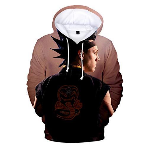 Cobra Kai Hoodie Damen, Herren Karate Kid Pullover Teenager Jungen Mädchen Kinder Kids Locker Sweatshirt Frauen Männer Langarm Pulli Lose Halloween Kapuzenpullover Shirt Merchandise (K4,M)