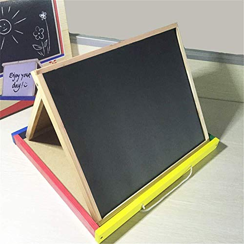 Kunst ezel for kinderen Kids Tekening van de Kunst van de Krabbel van het tafelblad 2in1 DoLIelseitige boards Bord en whiteboard