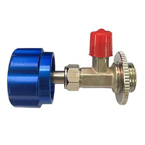 MuChangZi M12 1/4'' Válvula Dispensadora Adaptador de Acoplador de Válvula de Apertura de Refrigerante para Aire Acondicionado del Automóvil Sistema de CA SAE R12 R22 R600a
