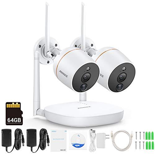 SANNCE 4CH 720P WLAN draadloze videobewaking bewakingscamera draadloze draadloze bewakingsset WiFi 1,0 megapixel NVR recorder met 4 x 720P IP camera's nachtzicht, 720p mit 1tb, mit 1TB HDD