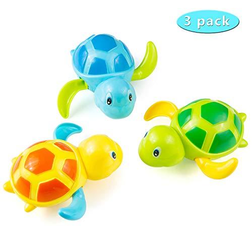 Comius Sharp Niños Juguete de Baño, 3 Piezas Bebé Baño de baño bañera de baño Juguete, Tortuga Animal Juguete de Beñera para niños pequeños Boys Girls. (A)