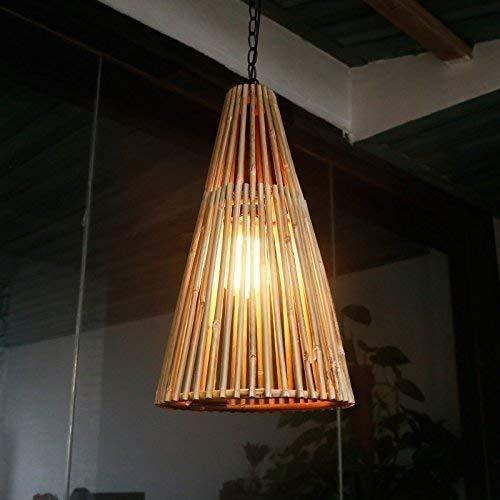 Araña, bambú tejido restaurante dormitorio araña personalidad sólido madera cafetería lámpara de pescado zen chandelier hotel corredor lámpara de pared arte bambú lámpara