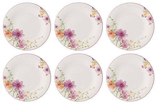CreaFlor Home 6er Set Frühstücksteller Mariefleur Basic Porzellan Mehrfarbig, bunt Villeroy &