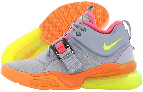 Nike Mens air Force 270 Hight Top Lace Up Fashion Sneakers, Grey, Size 10.5