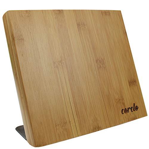 CORELO Magnetischer Messerblock/Messerbrett aus Holz ohne Messer (Bambus)