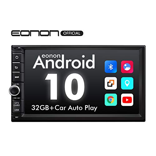 eonon GA2186 Android 10 7' LCD Touchscreen Indash Double Din Car Stereo 2GB Ram 32GB Rom Quad-Core GPS Navigation FM RDS USB Universal Head Unit Support WiFi Bluetooth 5.0 (NO DVD)