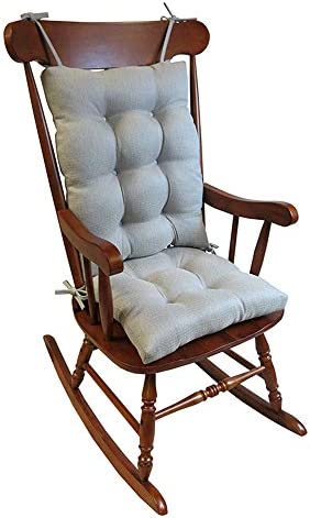 Best The Gripper Non-Slip Omega Jumbo Rocking Chair Cushions, pad Seat: 17 x 17 x 3 inch Seat Back: 17 x