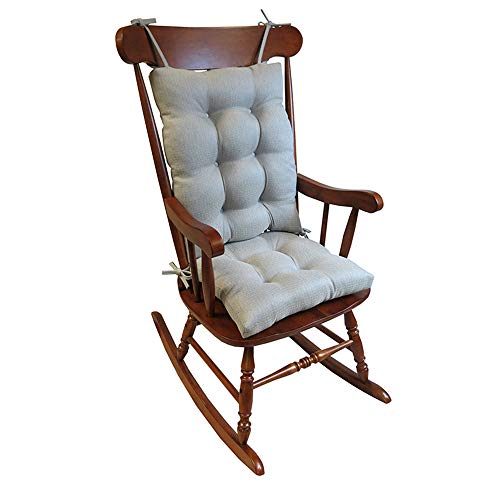 The Gripper Non-Slip Omega Jumbo Rocking Chair Cushions, pad Seat: 17 x 17 x 3 inch Seat Back: 17 x 21 x 3 inch, Grey