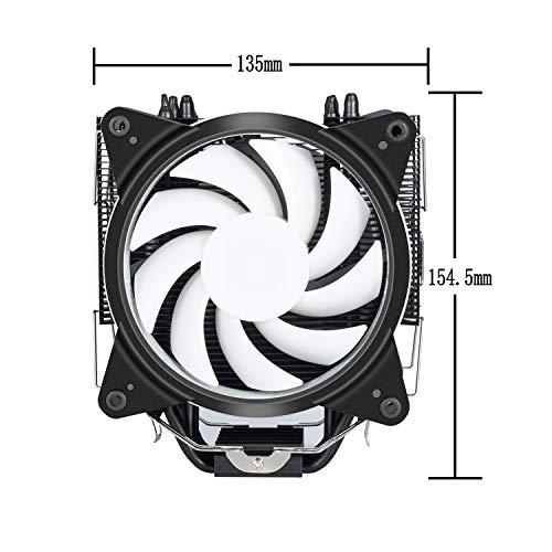 Novonestサイズオリジナル設計120mmサイドフロー型CPUクーラー青いLEDファンを搭載した静音[Intel/AMD両対応]【AC12RD】