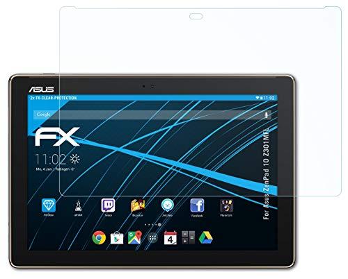 atFolix Schutzfolie kompatibel mit Asus ZenPad 10 Z301MFL Folie, ultraklare FX Bildschirmschutzfolie (2X)