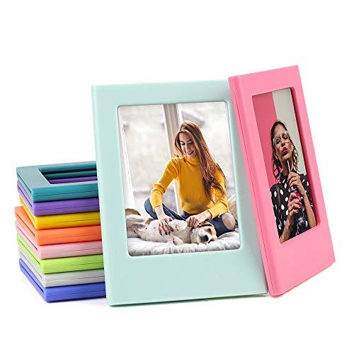 Sipobuy Arcobaleno Colorato Mini Tasca Magnetica Photo Frame, 3.5x2.5 Pollici, Frigo Cornici, Misura per Instax, 10 Colors/Pack