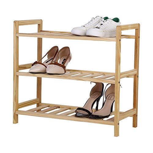 Muebles Zapatero De 3 Niveles, Fácil De Construir con 3 Estantes, Gran Capacidad De Almacenamiento Soporte De Madera para Zapatos/Entrenador Y Organizador, hasta 12 Pares, Pasillos SCHUHREGALE