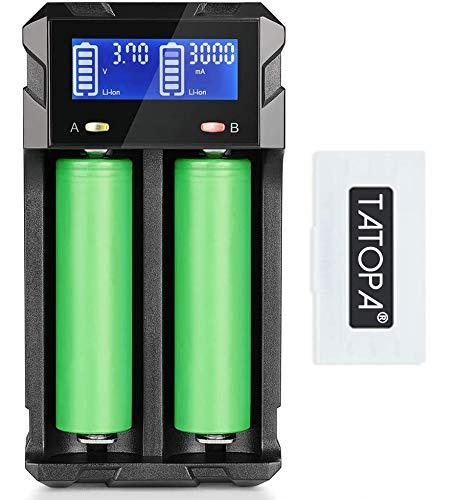Tatopa VTC6 Akku Akkus für E-Zigarette 2er Pack - 3080mAh/3,7V/30A (Nicht enthalten Ladegerät)