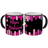 Mejor Madrina : Gift Mug Best Godmother Spanish Espanol Christmas Birthday - White w/Black Handle