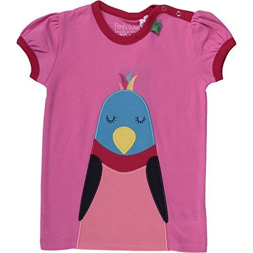 Fred'S World By Green Cotton Boat Front T Girl T-Shirt, Rose (017223000), 18 Mois Bébé garçon