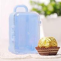 明るい色の安全なキャンディーボックスギフトボックス結婚式キャンディーボックス結婚式のための誕生日パーティー(Light blue)