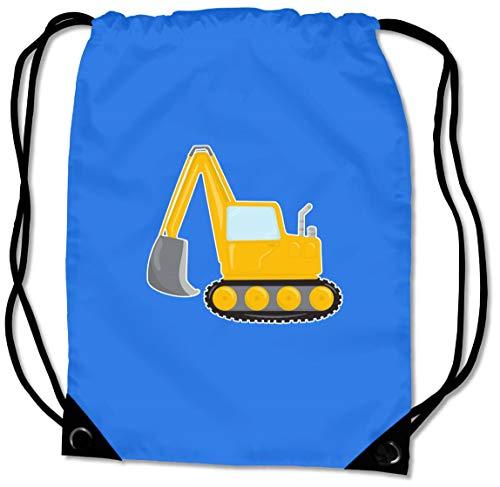 Samunshi® Turnbeutel Cooler Bagger Sportbeutel für Schule Sport Sporttasche BG10 Gymsac Nr.1: Saphir blau/Farbiger Aufdruck 45 x 34 cm