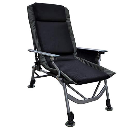 WYJW Reclining tuinstoel ligstoelen opklapbare stoel draagbaar bed verstelbare bed Siesta stoel kantoor lunch stoel outdoor strand stoel met handige opbergtas
