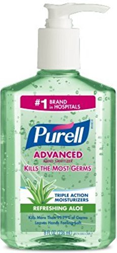 Purell Instant Hand Sanitizer with Pump - Aloe, 8 Ounce