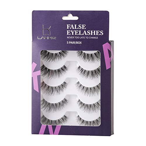 Lankiz Eyelashes Multipack Wispies False eyelashes 5 Pack Lashes