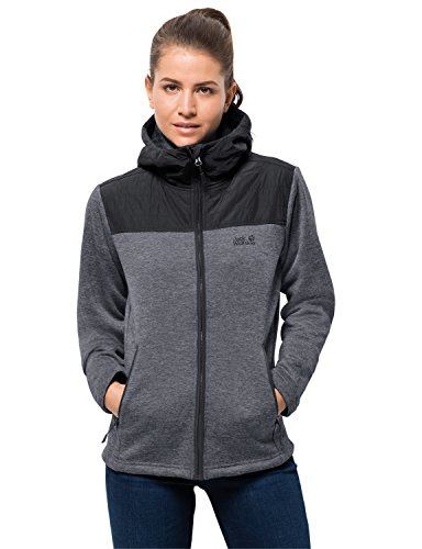 Jack Wolfskin Damen Pacific Sky Jacket Fleecejacke, grau (pebble grey), XL
