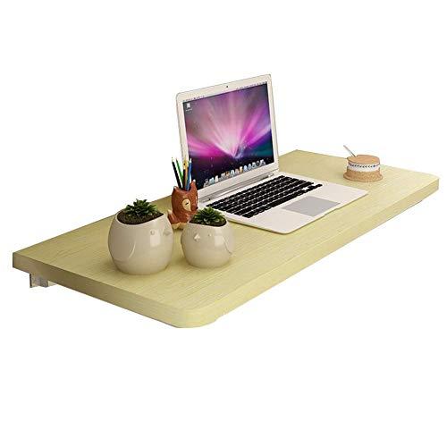 Wand-Tisch Laptop Ständer Schreibtisch Wohnzimmer Regal Esstisch Holzwerkstoff 3 Farben, 5 Größen (Farbe: Weiß Ahorn, Größe: 70x40cm)