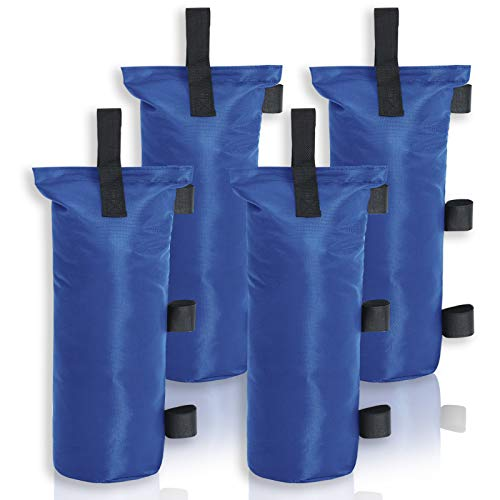 MASTERCANOPY Juego de 4 sacos de arena para toldo plegable portátil, (7 x 18 pulgadas), color azul