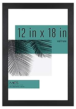MCS Industries Studio Gallery Frames 12x18 in Black Woodgrain
