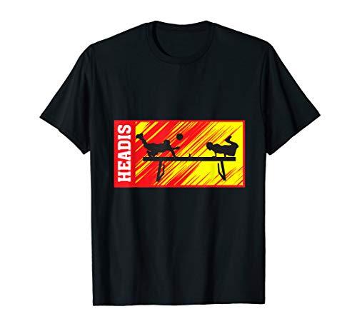 Headis Sport Ball lustiges Tischtennis Spieler Geschenk T-Shirt