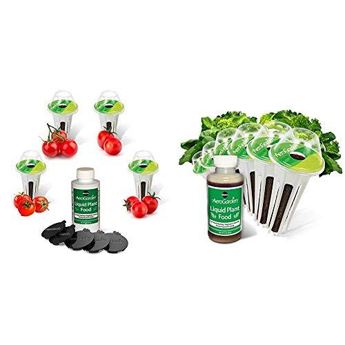 Miracle-Gro AeroGarden Red Heirloom Cherry Tomato Kit for Bounty Models & AeroGarden Heirloom Salad Greens Seed Pod Kit (6-Pod)