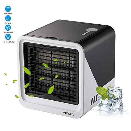 Mobiele airconditioning, airco, persoonlijke luchtbevochtiger, luchtreiniger, USB-mini-luchtkoeler met waterkoeling