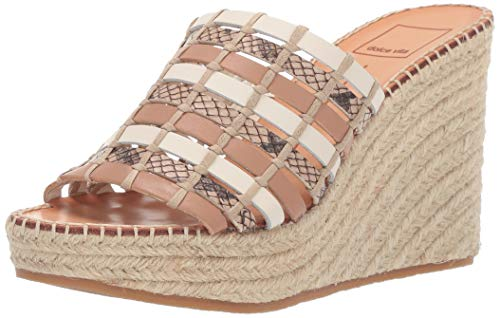 Dolce Vita Women's Prue Wedge Sandal, Natural Multi Leather, 6.5 M US