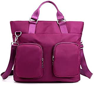 TOOGOO New Large Capacity Nylon Waterproof Shoulder Bag Fashion Casual Mobile Messenger Bag Black