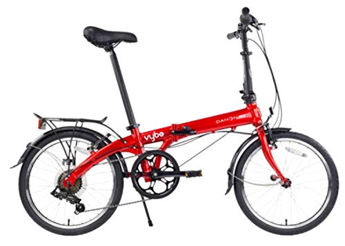 Dahon Vybe D7 Folding Bike, Red (2020)