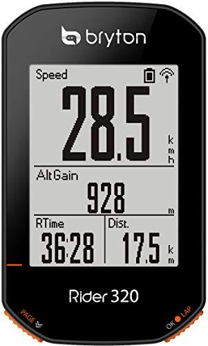 "Bryton Rider 320E Ciclo Computer GPS, Display 2.3"", Nero"
