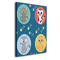 Skydoor J パネル ポスターフレーム 猫柄 かわいい インテリア アートフレーム 額 モダン 壁掛けポスタ アート 壁アート 壁掛け絵画 装飾画 かべ飾り 30×20