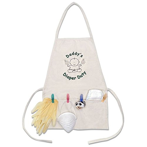 Daddy's Diaper Duty Apron - Unique New Dad Gag Gift- Baby...