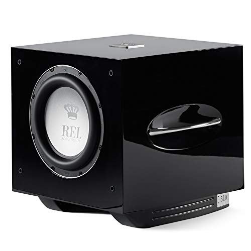 REL Acoustics S/510 Subwoofer, Airship Wireless Compatible, Black Lacquer