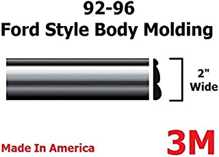 Automotive Authority LLC 1992-1996 Ford Black/Chrome Side Body Trim Molding Rocker Panel Pickup Truck - 2