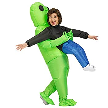 Kooy Inflatable Alien Costume Inflatable Halloween Party Costumes Blow up Fancy Dress Kids Costumes