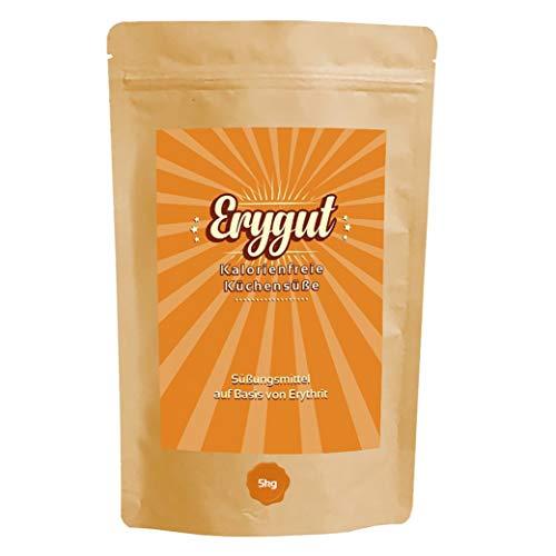 Erythrit 5 kg von Erygut | 5000g kalorienfreier Zucker Ersatz aus Erythritol | Zuckeralternative für Diät und zum Abnehmen geeignet | Erithrit Light