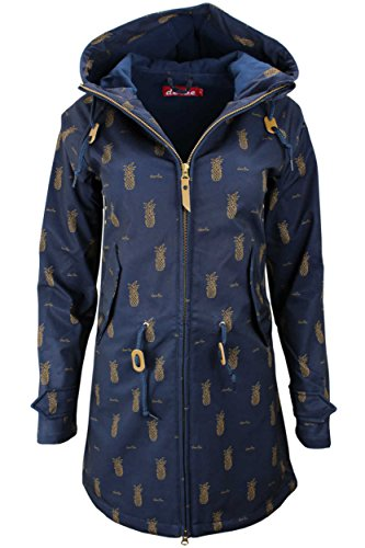 derbe Damen Softshell Jacke Mantel Island Friese Pineapple Navy (38)