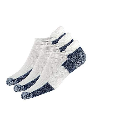 Thorlos J Max Cushion Running Rolltop Socks, White/Navy (3 Pair Pack), Large