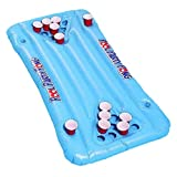 Beer Pong Pool Float, Floating Beer Pong Table,PVC Inflatable Game Cup Hole Floating Row, Water Deck Chair...