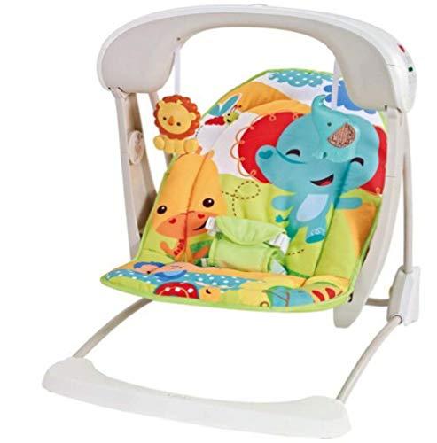 ZWQ kids Rainforest Friends Rocker du Nouveau-né au Bambin, videur du Nouveau-né et Utilisation comme Chaise de bébé, adapté à la Naissance,C