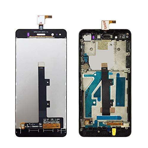 ZUAN Probado Completa Compatible con BQ Aquaris A4.5 LCD + Pantalla táctil digitalizador Asamblea con Marco Compatible con BQ A4.5 Pantalla LCD con Herramientas Libres (Color : Black No Frame)