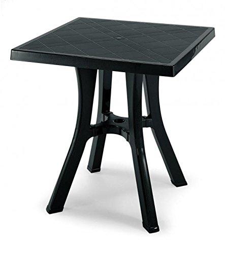 Mesa cuadrado para exterior desmontable, mesa resina 70 x 70, mesa para jardín antracita: Amazon.es: Hogar