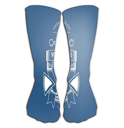 Deportes al aire libre hombres mujeres calcetines altos calcetines vintage etiquetas tipografía pintura ferviente baldosa longitud 19.7